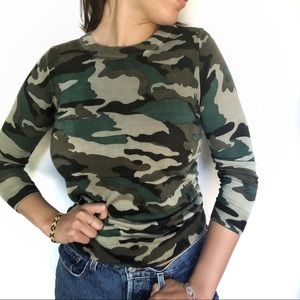J.Crew Tippi Camo Merino Wool Sweater